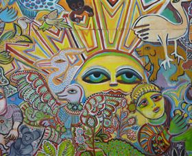 The Painting of Life by Mirka Mora - Accommodation Rockhampton