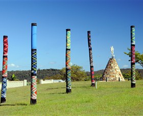 Maclean Tartan Power Poles - Accommodation Rockhampton