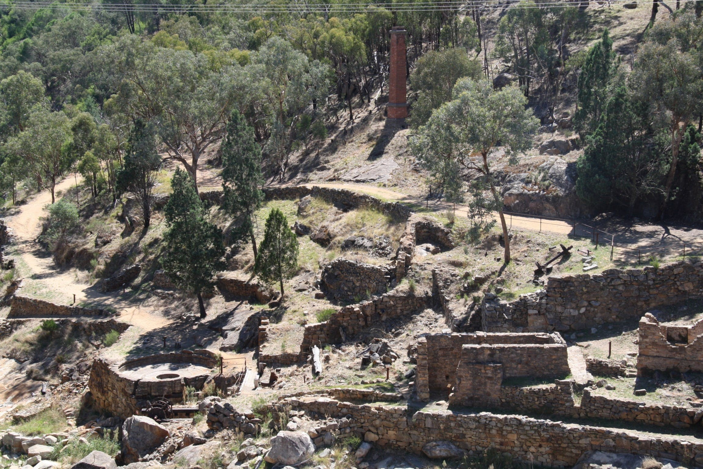 Adelong Falls Gold Mill Ruins - Accommodation Rockhampton