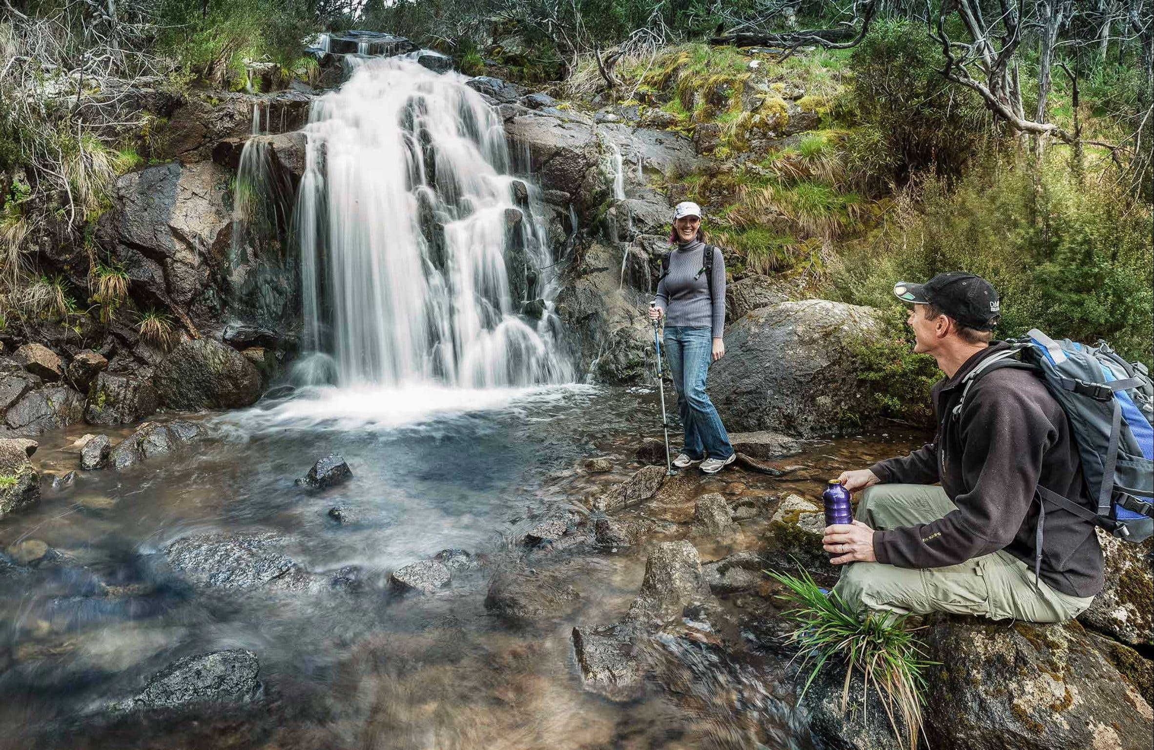 Waterfall Walking Track Kosciuszko National Park - Accommodation Rockhampton