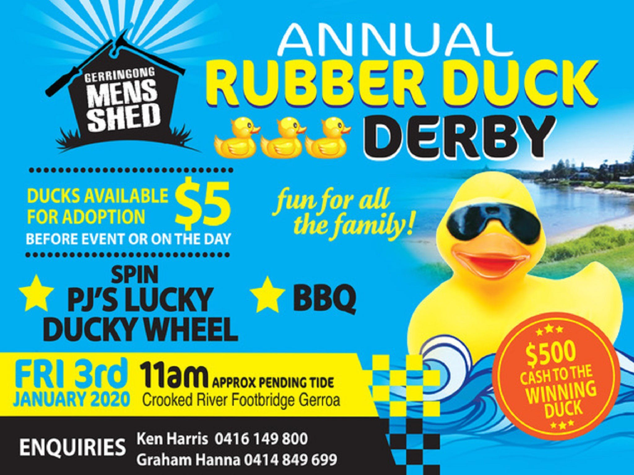 Gerringong Mens Shed Annual Duck Derby - Accommodation Rockhampton