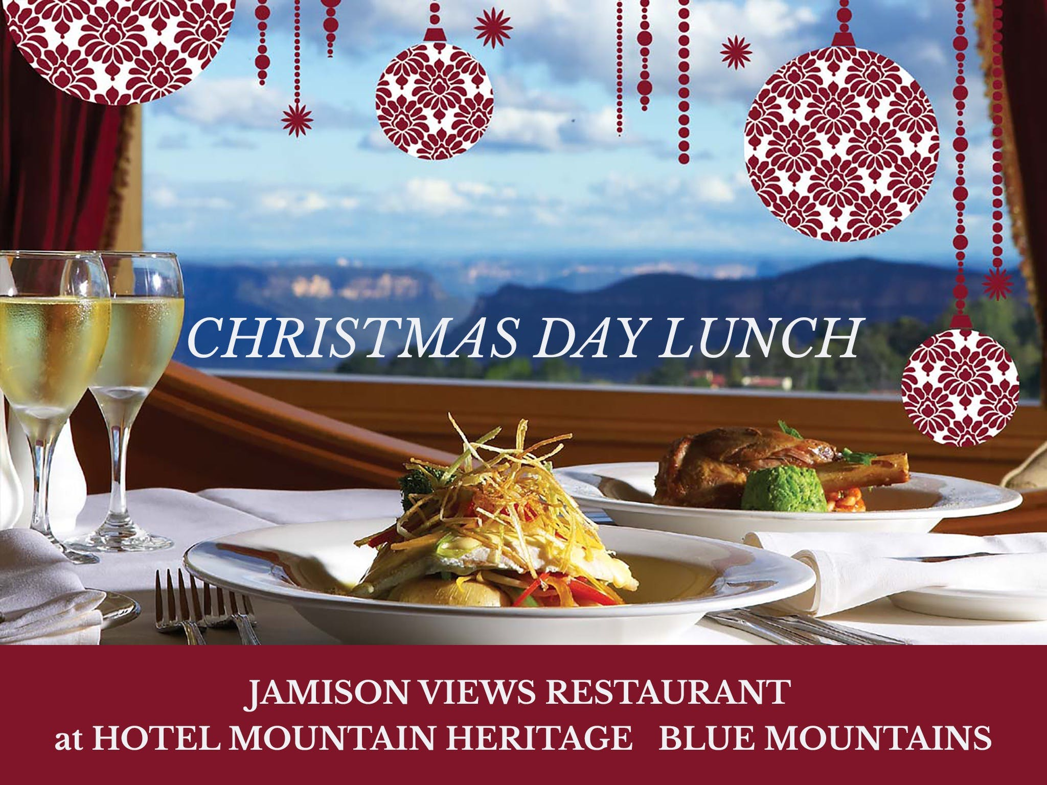 Christmas Day Lunch Hotel Mountain Heritage - Accommodation Rockhampton