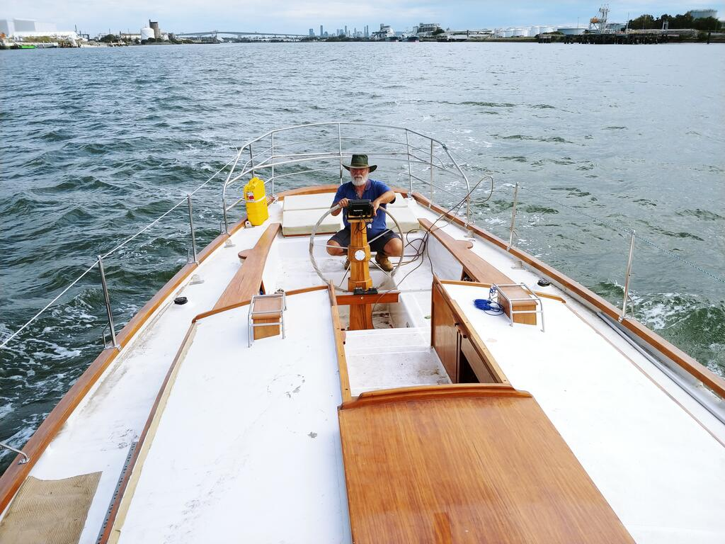 Cruising Yacht in Marina - Accommodation Rockhampton